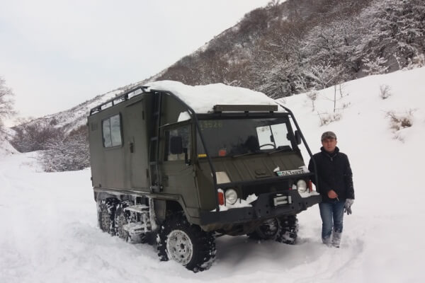 Expedition camper for winter